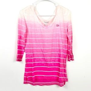 NWT Gilly Hicks pink white striped T shirt top S
